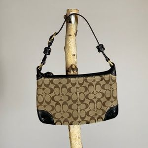 Coach Brown & Black Small Shoulder Bag F0726-11430